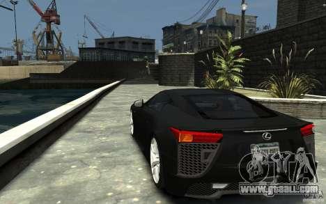 Lexus LFA v1.0 for GTA 4 back left view