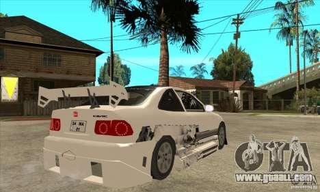 Honda Civic Tuning Tunable for GTA San Andreas inner view