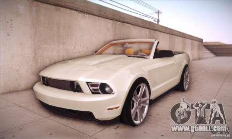 Ford Mustang 2011 Convertible for GTA San Andreas