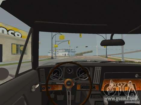 Chevrolet Camaro Z28 for GTA San Andreas inner view