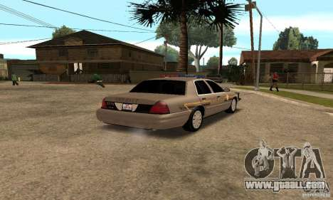 Ford Crown Victoria for GTA San Andreas back left view