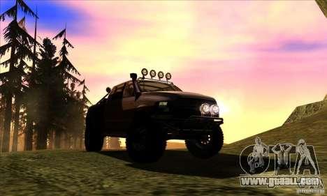Dodge Ram All Terrain Carryer for GTA San Andreas back view