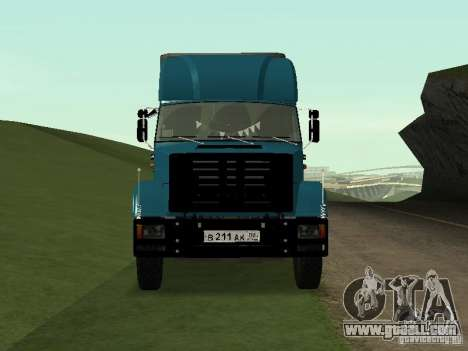 ZIL 133 for GTA San Andreas back left view