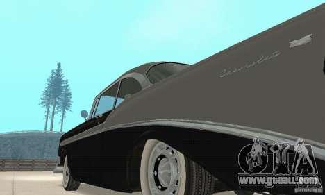 Chevrolet Bel Air 1956 for GTA San Andreas inner view