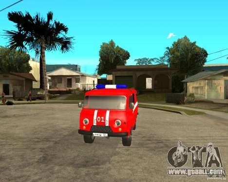 UAZ Fire Brigade for GTA San Andreas inner view