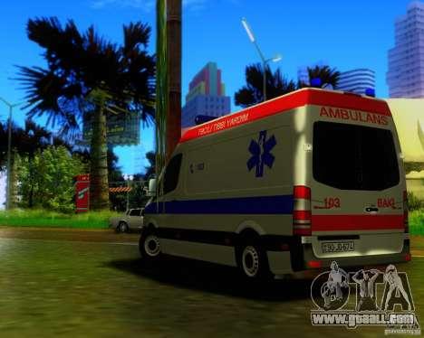 Mercedes-Benz Sprinter Baku Ambulans for GTA San Andreas inner view