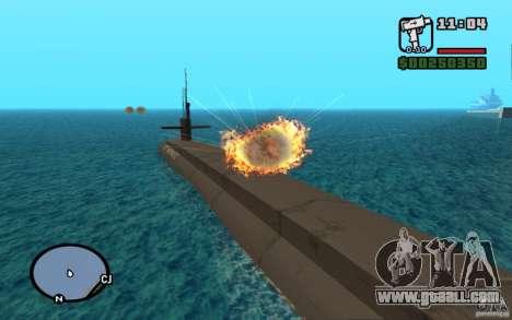 Submarine for GTA San Andreas second screenshot