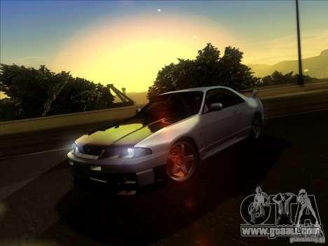 Nissan Skyline GTR BNR33 for GTA San Andreas inner view