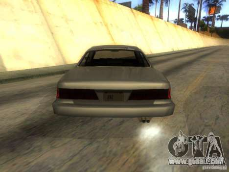 Merit Coupe for GTA San Andreas back left view