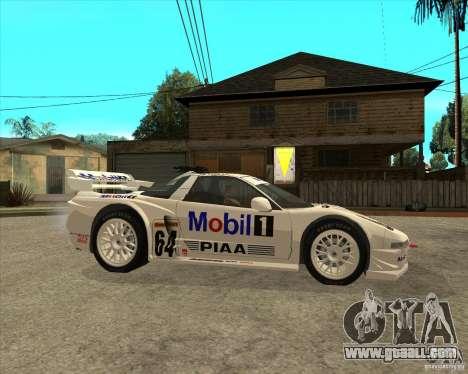 2001 Honda Mobil 1 NSX JGTC for GTA San Andreas right view