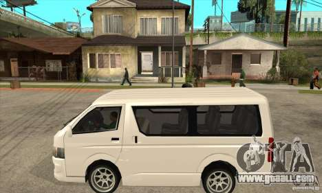 Toyota Hiace for GTA San Andreas back left view