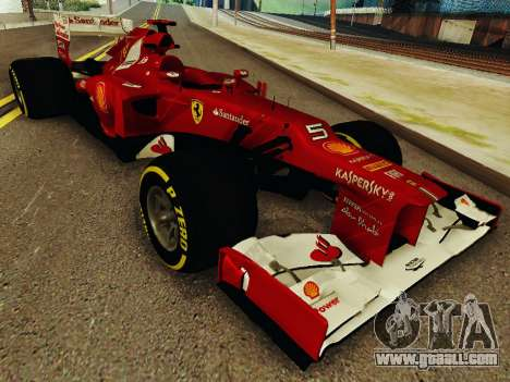 Ferrari F2012 for GTA San Andreas back view