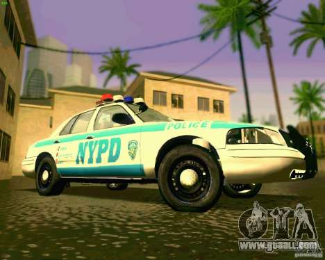 Ford Crown Victoria 2003 NYPD police for GTA San Andreas inner view