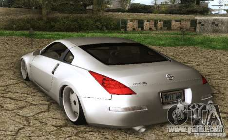 Nissan 350Z Stanceworks for GTA San Andreas left view