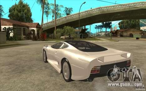 Jaguar XJ 220 for GTA San Andreas back left view