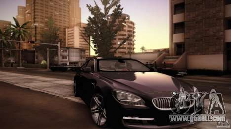 BMW 640i Coupe for GTA San Andreas upper view