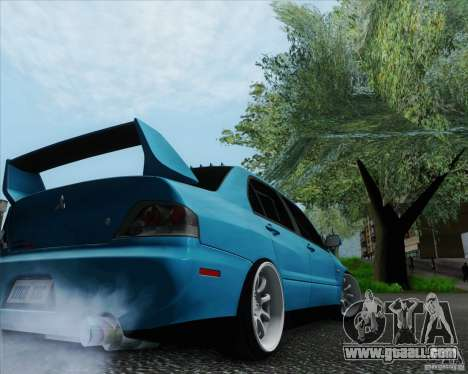 Mitsubishi Lancer Evolution VIII JDM Style for GTA San Andreas left view