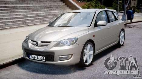 Mazda 3 2004 for GTA 4 inner view