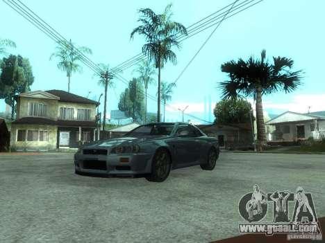 Nissan Skyline GT-R34 V-Spec for GTA San Andreas