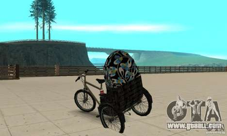 Manual Rickshaw v2 Skin3 for GTA San Andreas back left view