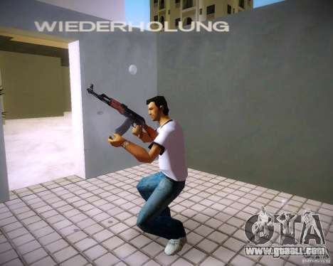 AK-47 for GTA Vice City forth screenshot