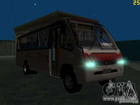 Marcopolo G6 for GTA San Andreas inner view