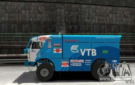 KAMAZ 4911 Rally MASTER for GTA 4 left view