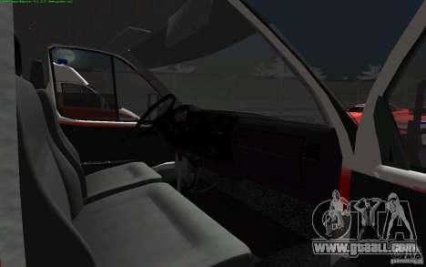 Gazelle 22172 ambulance for GTA San Andreas back view
