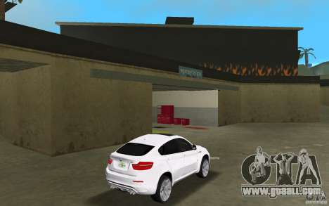 BMW X6M 2010 for GTA Vice City right view