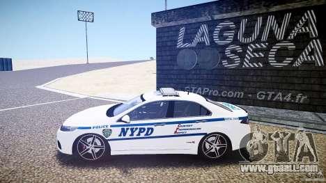 Honda Accord Type R NYPD (City Patrol 7605) ELS for GTA 4 left view