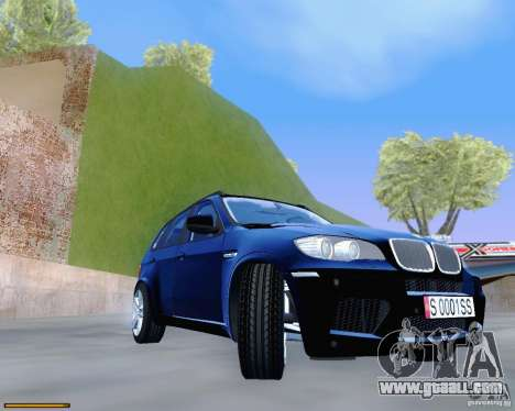 BMW X5M for GTA San Andreas inner view