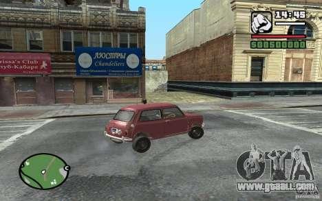 Mini Cooper S for GTA San Andreas right view