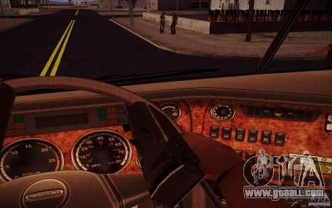 Freightliner Argosy for GTA San Andreas inner view