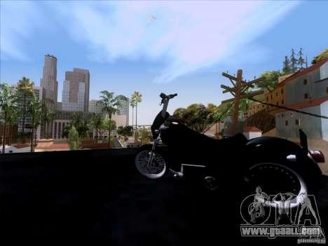 Harley Davidson FXD Super Glide for GTA San Andreas back view