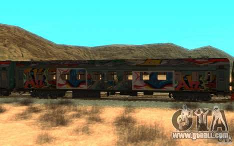 New Graffity Train for GTA San Andreas left view