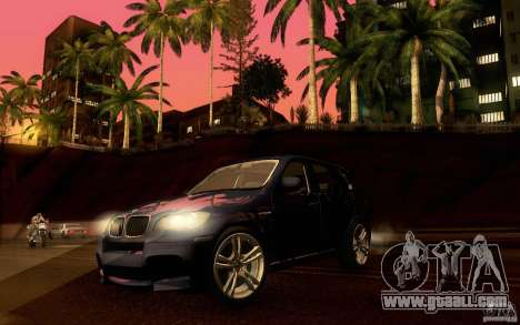 BMW X5M  2011 for GTA San Andreas side view