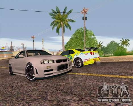 Nissan Skyline R34 Z-Tune V3 for GTA San Andreas upper view