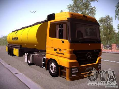 Trailer for Mercedes-Benz Actros Rosneft for GTA San Andreas right view