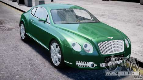Bentley Continental GT for GTA 4 side view
