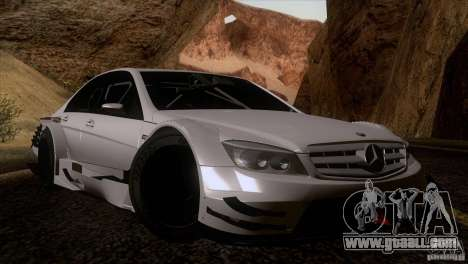 Mercedes Benz C-Class Touring 2008 for GTA San Andreas inner view