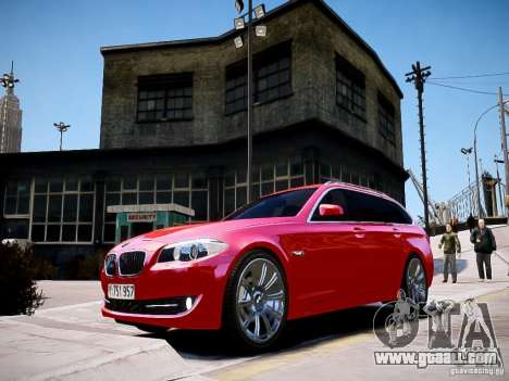 BMW 525i Touring for GTA 4 back left view