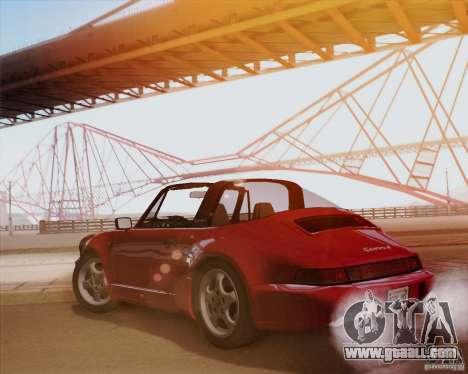 Porsche 911 Carrera 4 Targa (964) 1989 for GTA San Andreas back view
