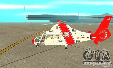 AS-365N United States Coast Guard for GTA San Andreas back left view