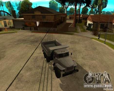 Ural 55571 dump truck for GTA San Andreas left view