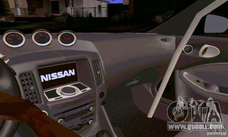 Nissan 370Z for GTA San Andreas engine