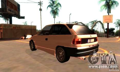 Opel Astra 1993 for GTA San Andreas back left view