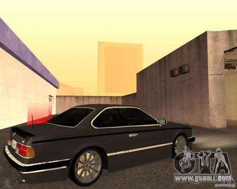 BMW M6 E24 for GTA San Andreas inner view
