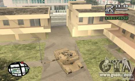 M1A2 Abrams TUSK for GTA San Andreas right view