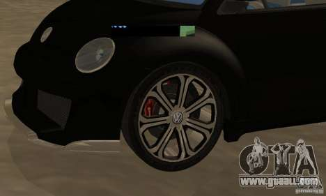 Volkswagen Bettle Tuning for GTA San Andreas back view