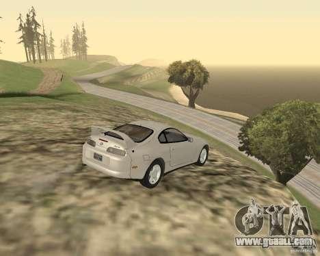 Toyota Supra 3.0 24V for GTA San Andreas back left view